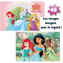 SPIN MASTER INTERNATIONAL - BOITE CARTON 2 PUZZLES LENTICULAIRES Disney Princesses - 6033113