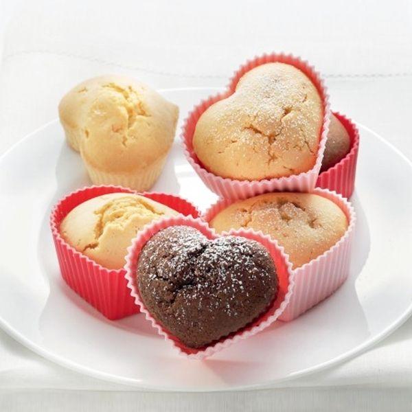 Totalcadeau Moule coeur en silicone 6 muffins 6 mini cake