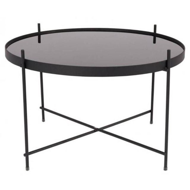 Inside 75 Zuiver Table basse Cupid acier noir 63 x 40 cm
