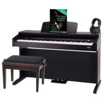 Classic Cantabile - Dp-210 Rh piano électrique bois de rose set dont tabouret, casque