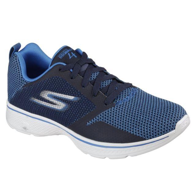 Skechers Baskets Go Walk 4 Solar Homme 46 Eur, Bleu