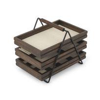 Umbra - Boite à bijoux 3 tiroirs de rangement en bois noyer 17.8x25.4x20.3cm Terrace