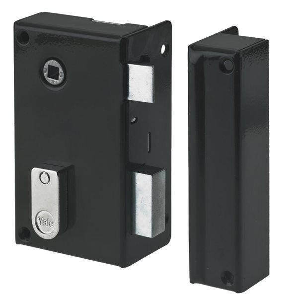 yale serrure applique verticale monopoint blanche pour porte ouvrant droit pas cher achat. Black Bedroom Furniture Sets. Home Design Ideas