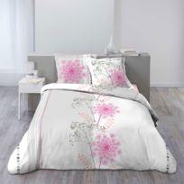 housse couette fleurs achat housse couette fleurs pas cher rue du commerce. Black Bedroom Furniture Sets. Home Design Ideas