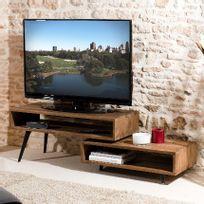 - Meuble Tv rotatif Appoline - teck foncé