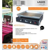 LAGOS Caisson époxy / plaque inox 2 feux