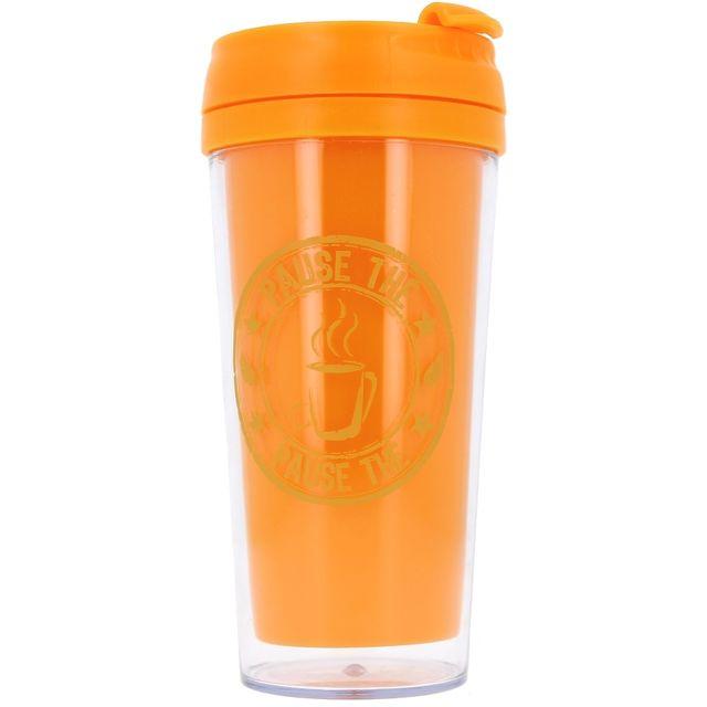 Promobo Mug Isotherme à transporter Américain Cup Of Tea Orange