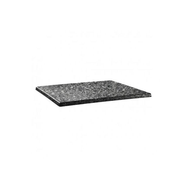 Topalit Plateau de table granite noir 1100 x 700 mm Granite noir 1100 mm