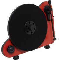 PRO-JECT - Platine vinyle VERTICAL TURNTABLE E OM5 DROITIER ROUGE