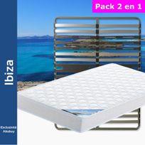 Altobuy - Ibiza - Pack Matelas + AltoZone 140x190