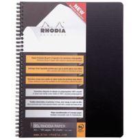 Rhodia - cahier note book polypropylene à reliure intégrale, 160 pages, format a4+ 22.5 x 29.7 cm 5x5