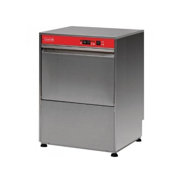 Gastro M Lave vaisselle professionnel avec pompe de vidange et doseur détergent - 50x50 cm - 400 V 400V triphase