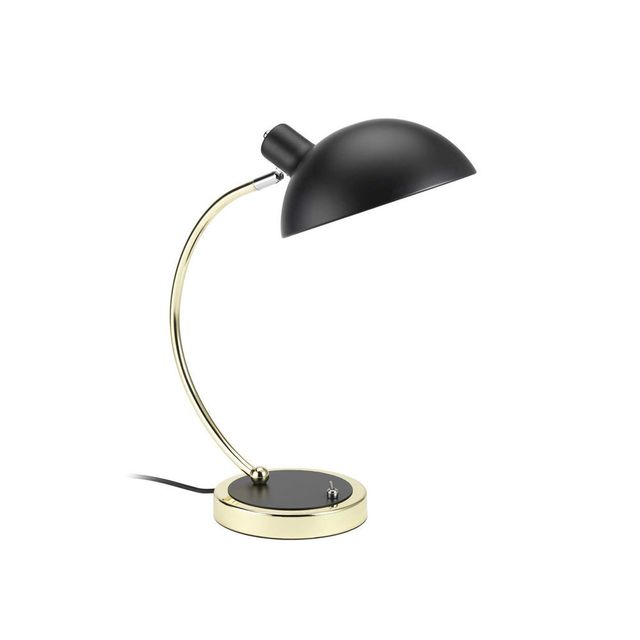 Nevio Métal Lampe Arc De Hauteur Noir 38cm Laiton Forme En Finition Bureau hrdCtsQ