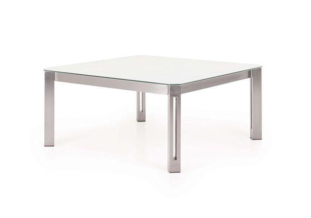 Todus - Table Basse De Jardin Design En Inox - Aria Hpl blanc 60 x ...
