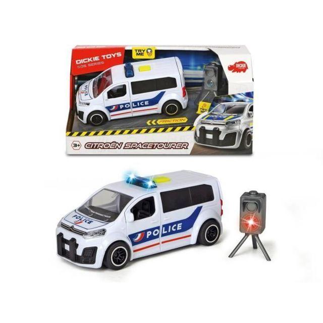 VEHICULE MINIATURE ASSEMBLE - ENGIN TERRESTRE MINIATURE ASSEMBLE DICKIE TOYS Citroën Tourer Police + Accessoires