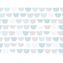 Graham And Brown - Papier peint 100% intissé motif écaille bleu 10.05x0.52m Todd