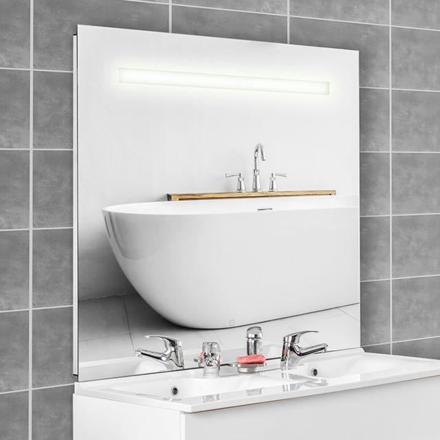 creazur miroir r tro clair mirlux 140x105 cm avec interrupteur sensitif pas cher achat. Black Bedroom Furniture Sets. Home Design Ideas