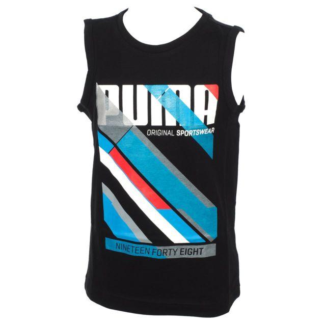 b075e15899c7a Puma - Tee shirt sans manches Fun td graph sm tee nr jr Noir 20117 - pas  cher Achat   Vente Tee shirt enfant - RueDuCommerce