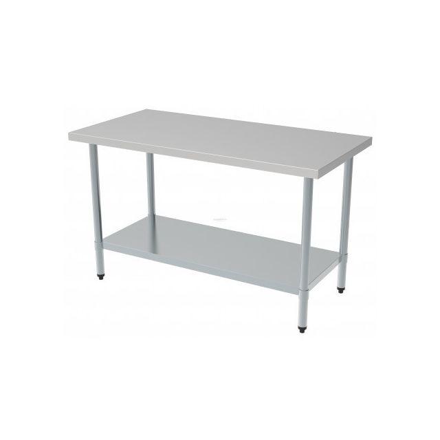 Combisteel Table de Travail Inox Etagère Démontable - Gamme 700 inox 700x700 700