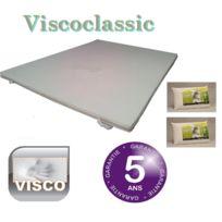 Greenbed - Surmatelas mémoire de forme 140X190 Viscoclassi + 2 oreillers 60x40