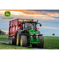 Schmidt - Puzzle 60 pièces : John Deere : Tracteur avec remorque