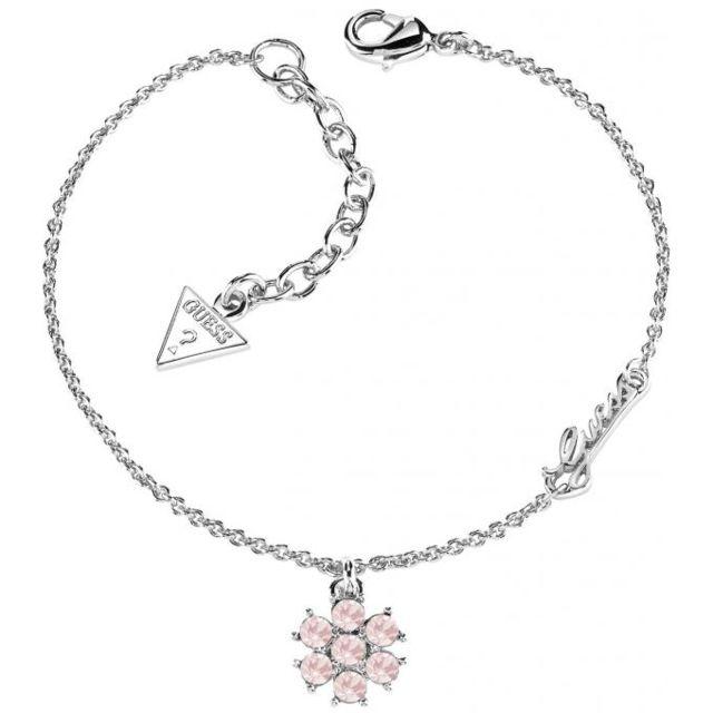 8330d96eef57 Guess - Promo Bracelet Ubb61068 - Bracelet Logoté Fleur Femme - pas ...