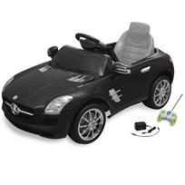 Rocambolesk - Superbe Voiture électrique 6 V avec télécommande Mercedes Benz Sls Amg noire neuf