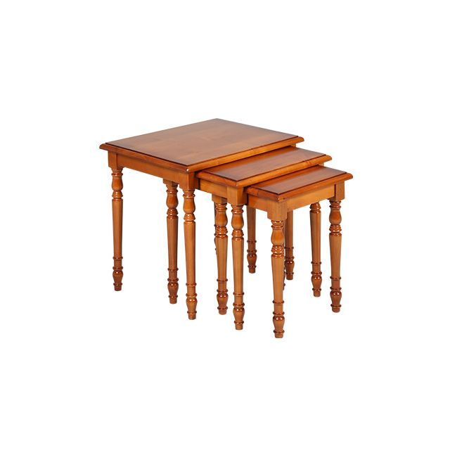 Tables gigognes en merisier massif Style Louis Philippe