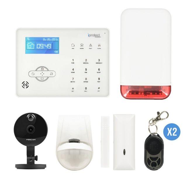iprotect kit alarme sans fil gsm avec cam ra ip foscam c1 pas cher achat vente alarme. Black Bedroom Furniture Sets. Home Design Ideas