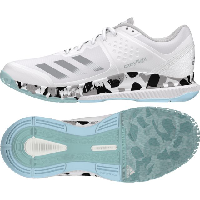 chaussures femme adidas crazyflight bounce blanc
