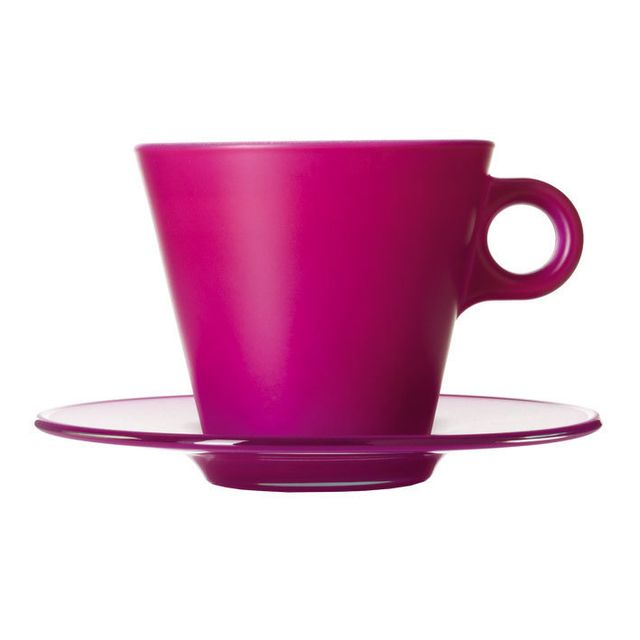 Leonardo Tasse à cappuccino en verre avec soucoupe 30 cl Magico
