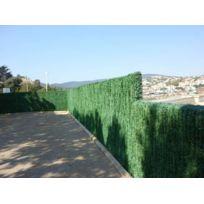 JET7GARDEN - Haie artificielle 110 brins vert pin en rouleau