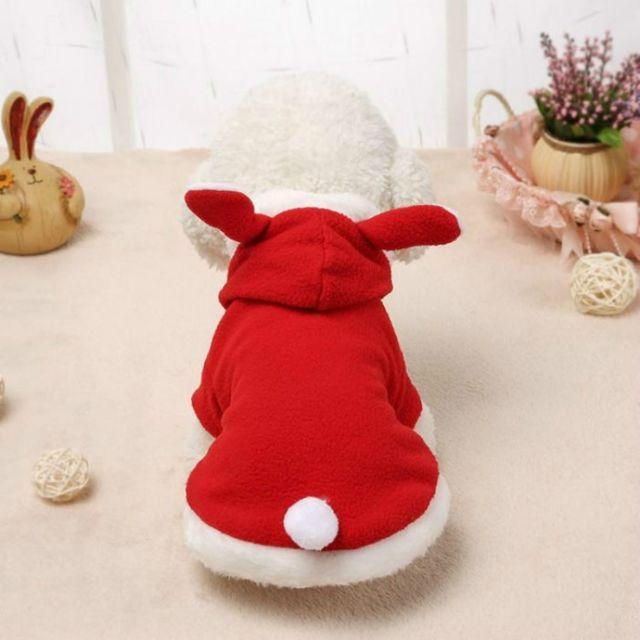 Wewoo Vêtements pour animaux domestiques chien rose tendre oreilles de lapin vêtementstaille S rouge