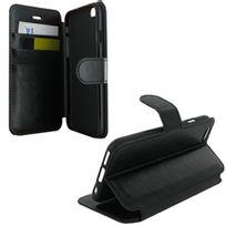 Colorfone - Etui type portefeuille pour iPhone 6 Plus rabat latéral noir fermeture magnétique