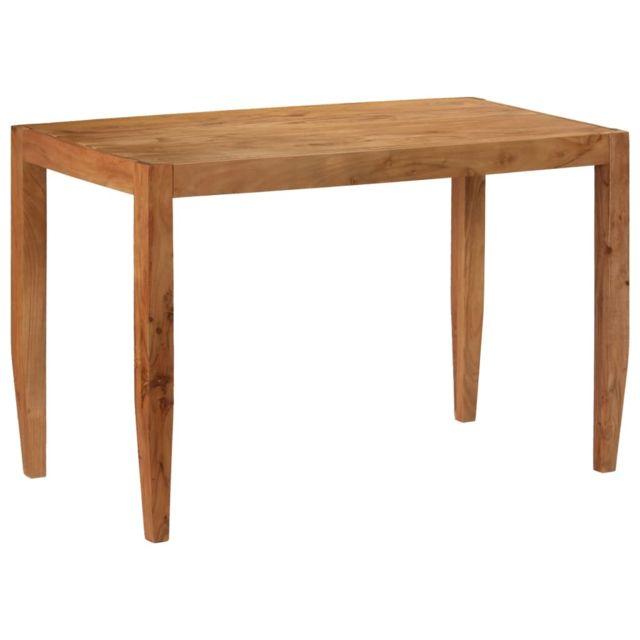 Vidaxl Table de Salle à Manger Bois d'Acacia Massif Marron Table de Cuisine