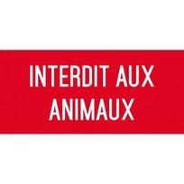 Editions Uttscheid - interdit aux animaux - Autocollant Vinyl Waterproof - L.200 x H.100 mm