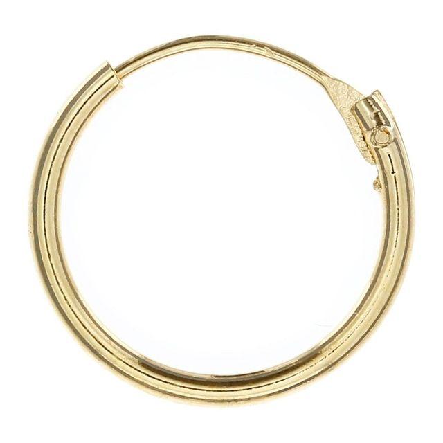 Sochicbijoux so chic bijoux © boucles doreilles créoles 16 mm classique plaqué or 750
