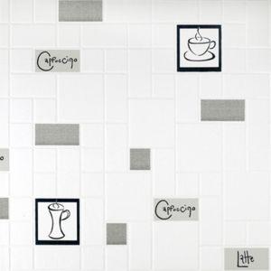 Papier peint cuisine gris pas cher achat vente papier peint rueducommerce - Papier peint cuisine lessivable ...