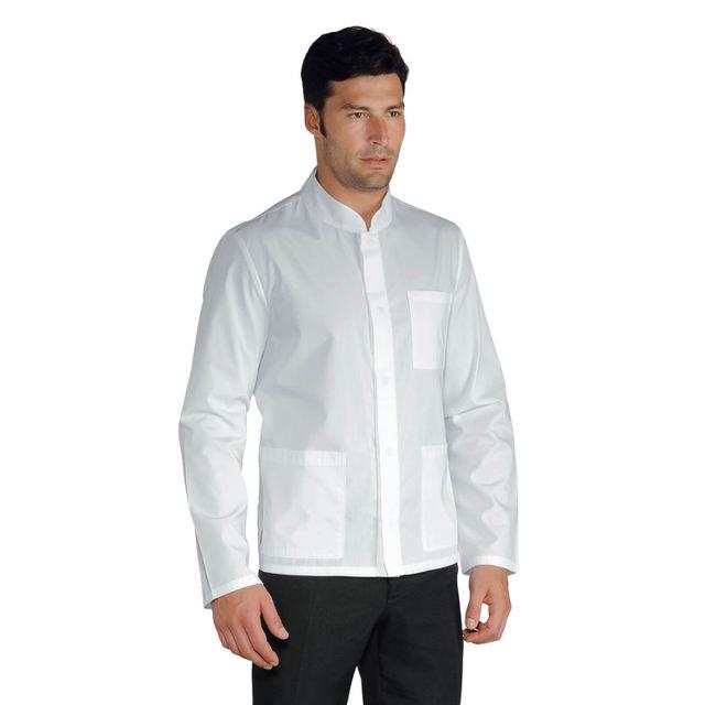 ac1b2452f Isacco - Veste Homme Col Mao Tissu Légé Coreana Blanche - pas cher ...