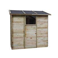 Cemonjardin - Abri de rangement adossé en bois 2,63 m² Elisa