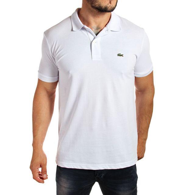 cc4b1ac051 Lacoste - Polo L1212 slim fit blanc manches courtes - pas cher Achat / Vente  Polo homme - RueDuCommerce