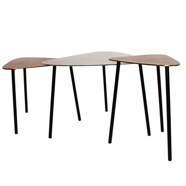 Karedesign Tables basses Loft Triangle vintage set de 3 Kare Design