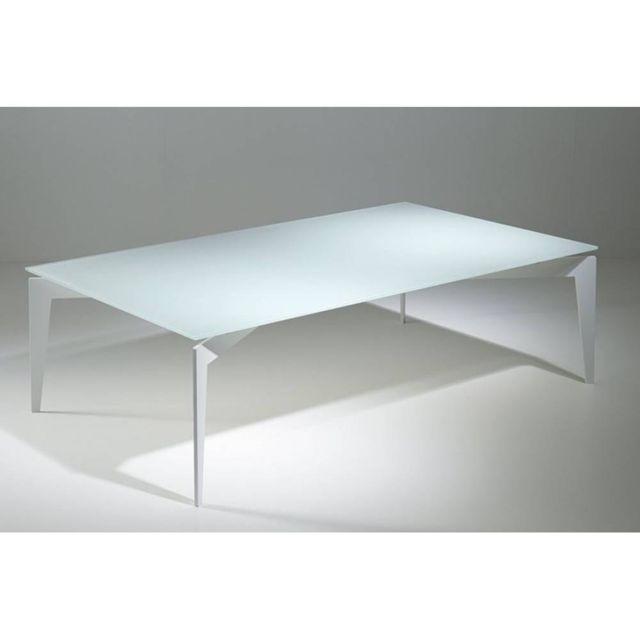 Inside 75 Table Basse Design Rocky En Verre Blanc Pas Cher Achat