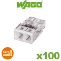 Wago - Pot de 100 mini bornes de connexion automatique 2 entrées S2273