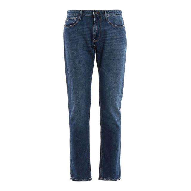 Armani Ea7 Emporio Armani Homme 3H1J061D9RZ942 Bleu Coton Jeans