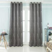 rideaux gris anthracite achat rideaux gris anthracite pas cher rue du commerce. Black Bedroom Furniture Sets. Home Design Ideas