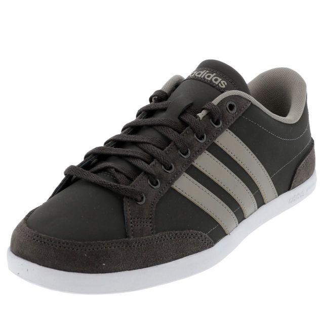 Adidas Chaussures basses cuir ou simili Caflaire marron h