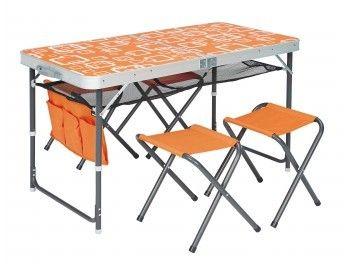 Trigano Table De Camping Valise Avec 4 Tabourets Pas