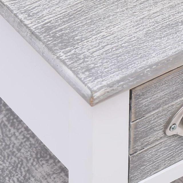 Icaverne - Tables d'extrémité categorie Table d'appoint Gris 40x40x40 cm Bois de Paulownia