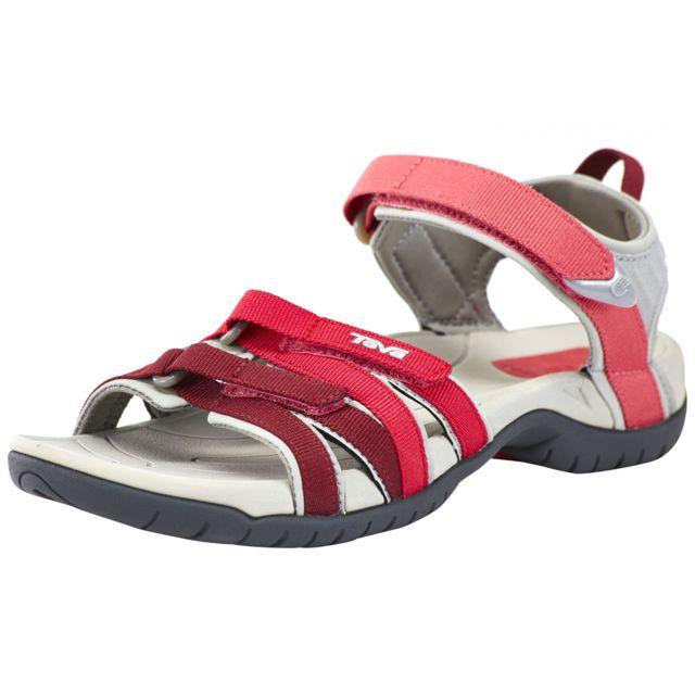 9092b491ddb Teva - Tirra - Sandales Femme - rose rouge - pas cher Achat   Vente Sandales  de marche - RueDuCommerce